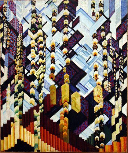 Frantisek Kupka - Colour Planes Winter Recollection by ahisgett, via Flickr