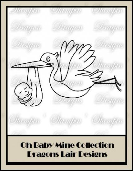 Oh Baby Mine Collection - Stork Digi Stamp