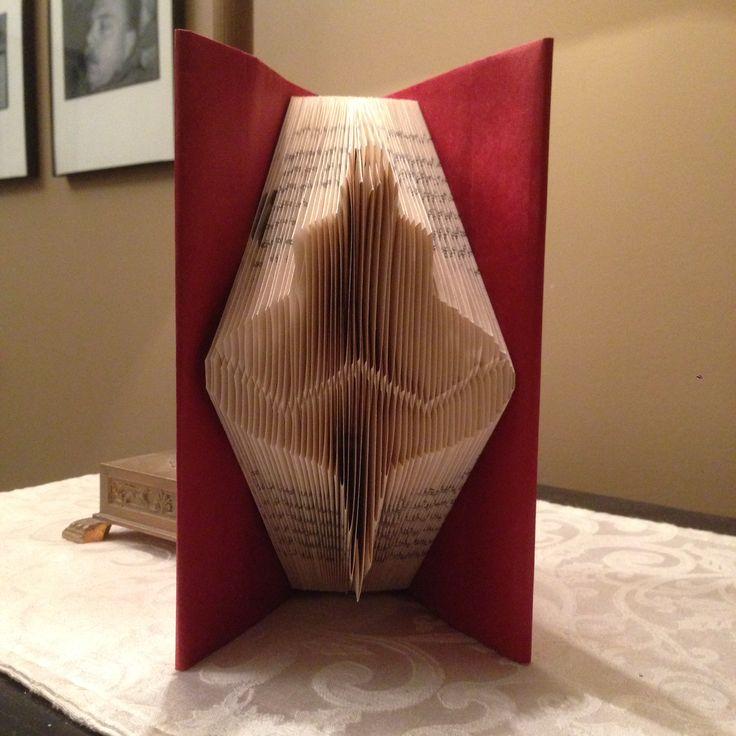 Christmas tree ornament, Folded book art