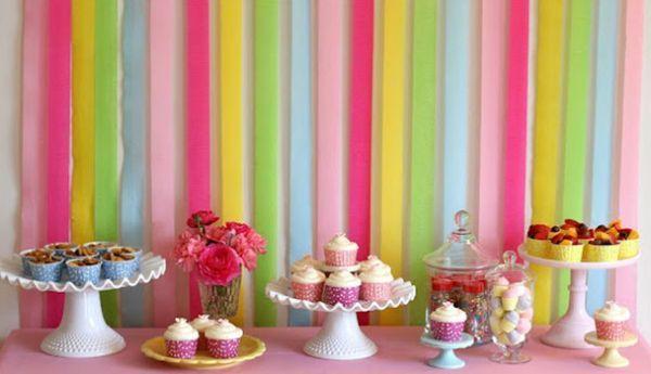 A decoração para festa infantil com papel crepom pode ser tão interessante quanto qualquer outro tipo de decoração (Foto: Divulgação)