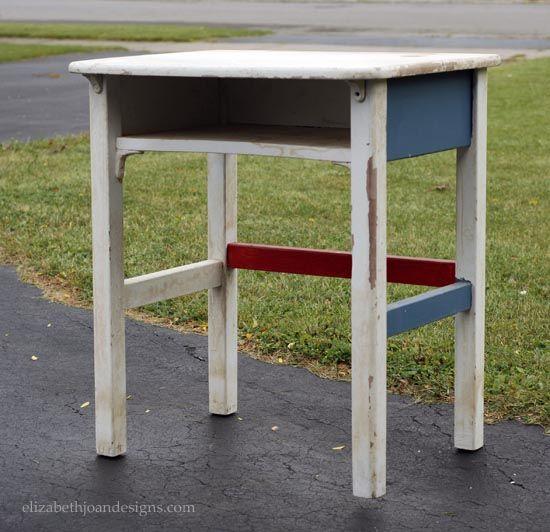 diy modern vintage furniture makeover. vintage school desk gets modern makeover diy furniture