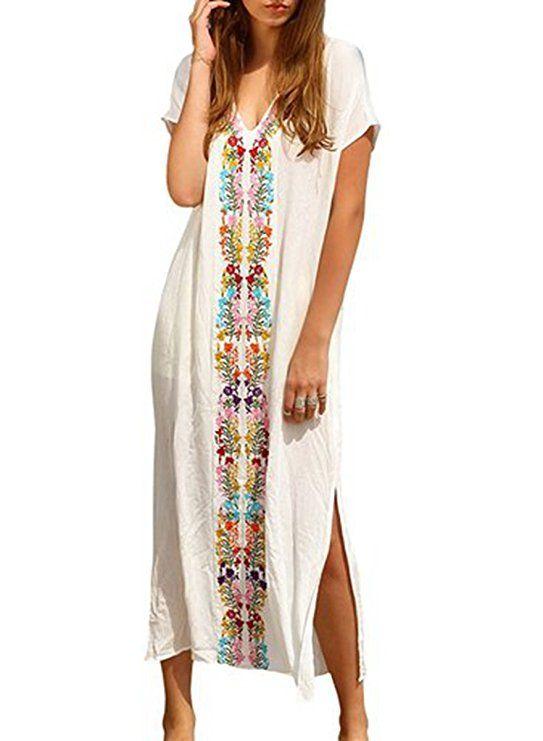 size 40 4279b d8382 Damen Strandponcho Sommer Kleid Überwurf Kaftan Strandkleid ...