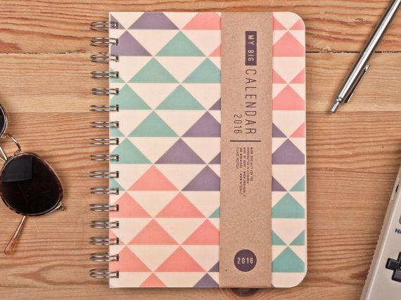 ann e 2016 planner calendrier agenda spirale a5 par thebigcalendar carnets cahier pinterest. Black Bedroom Furniture Sets. Home Design Ideas