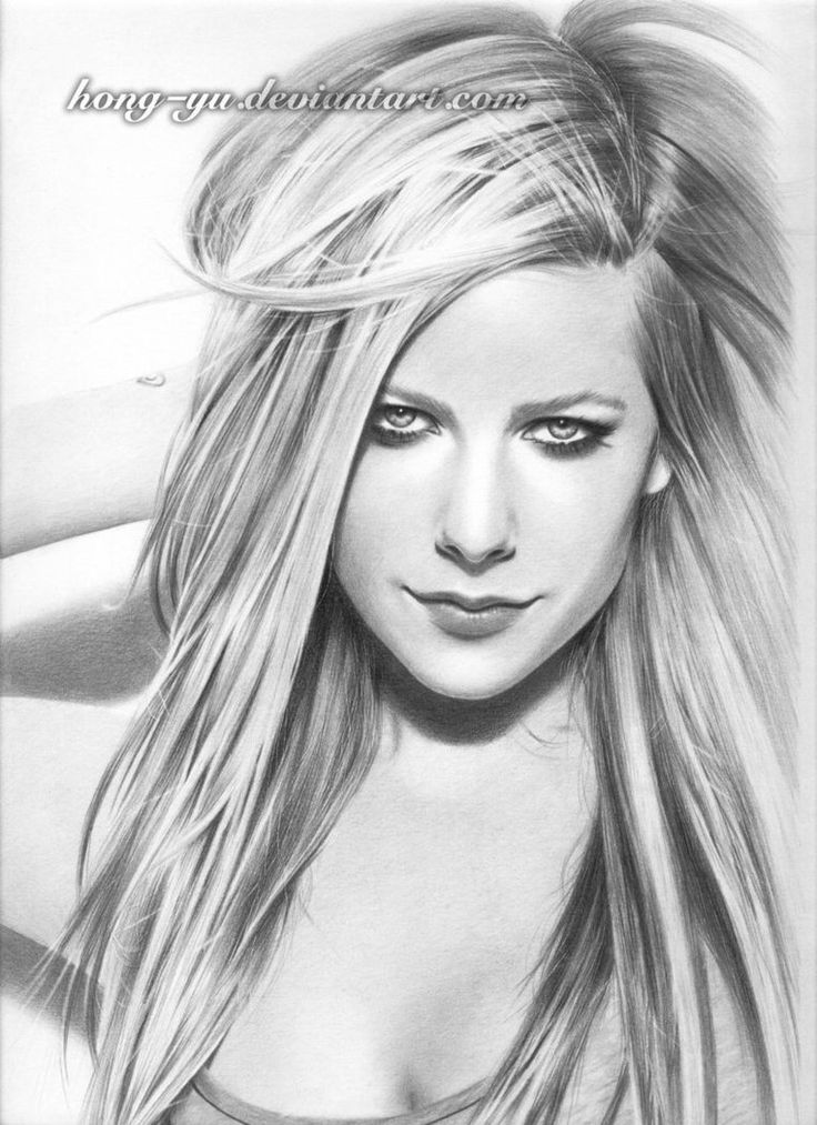 Avril lavigne celebrity drawing