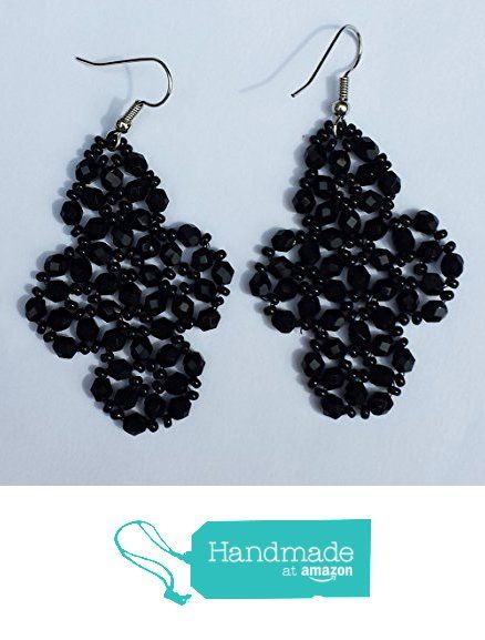 Black half Crystal and black beads earrings from Barbara Creations https://www.amazon.co.uk/dp/B06ZZCPT65/ref=hnd_sw_r_pi_dp_wgRizb7PMXFXZ #handmadeatamazon