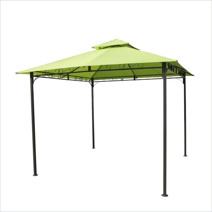 International Caravan Hamilton Outdoor Canopy Gazebo in Lime Green - YF-3136B-LG