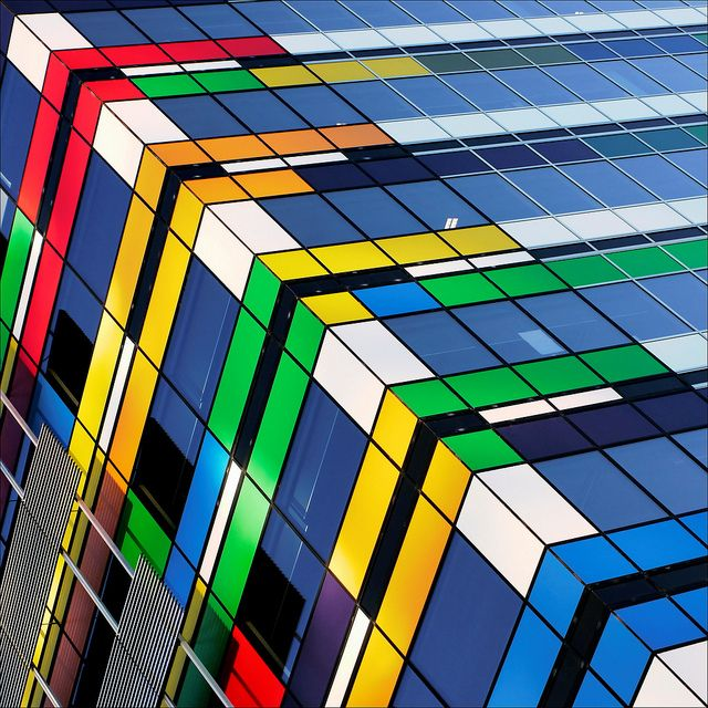 Docklands - Melbourne - Australia - ARQUITECTONICA.... Mondrian finally meets Rubik.. by roB_meL, via Flickr