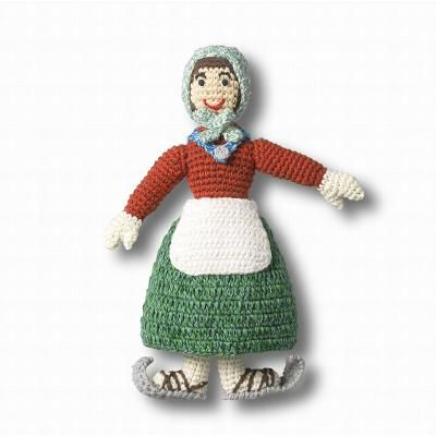 'Avercamp' doll  Crocheted doll of a boy or girl inspired by Avercamp, cotton (24 cm | 9.5 in)  Designed by Anne-Claire Petit exclusively for the Rijksmuseum, these dolls were inspired by Hendrick Avercamp's 'Winter Landscape with Skaters' (c. 1608).
