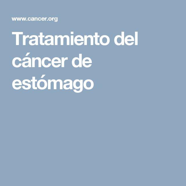 Tratamiento del cáncer de estómago