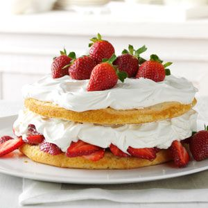 Strawberries & Cream Torte Recipe from Taste of Home -- shared by Cathy Branciaroli of Wilmington, Delaware