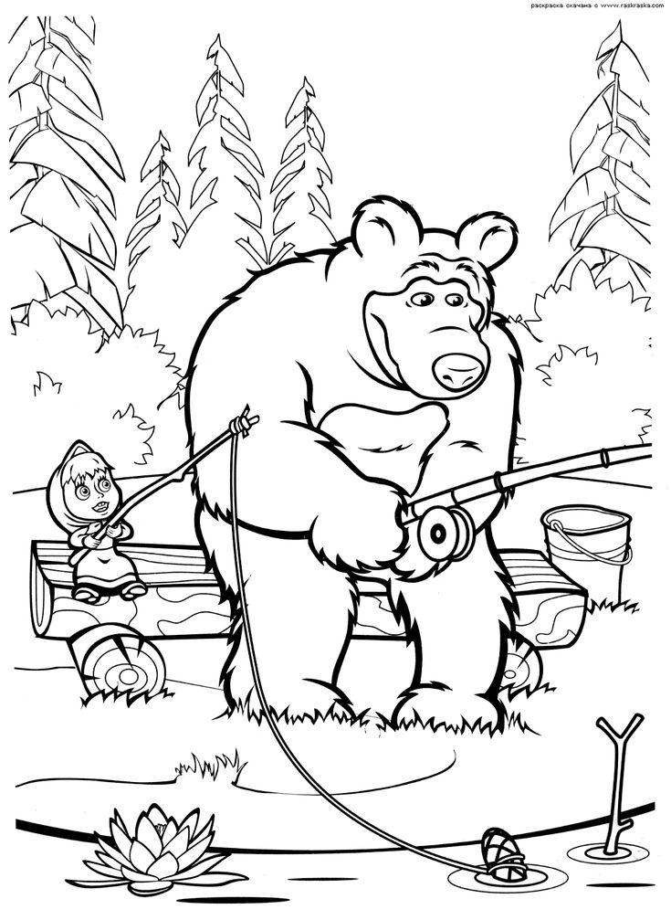 картинки из мультфильма маша и медведь раскраска онлайн ...