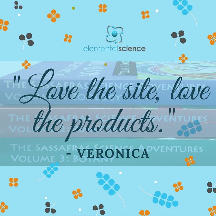 """""""Love the site, love the products."""" - Veronica"""