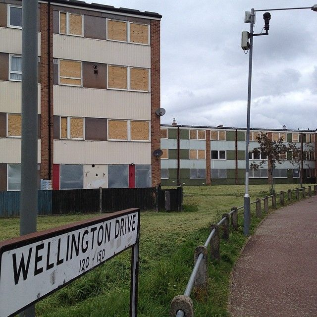 Wellington Drive, #abandoned & ready for demolition, #Dagenham #essex 1/5/14