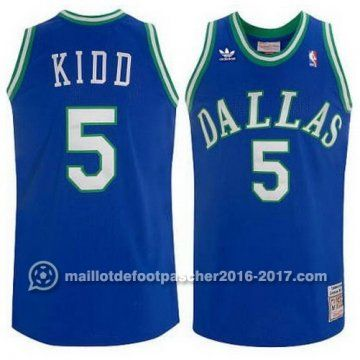 maillot nba pas cher Swingman Retro Jason Kidd #5 bleu Dallas Mavericks