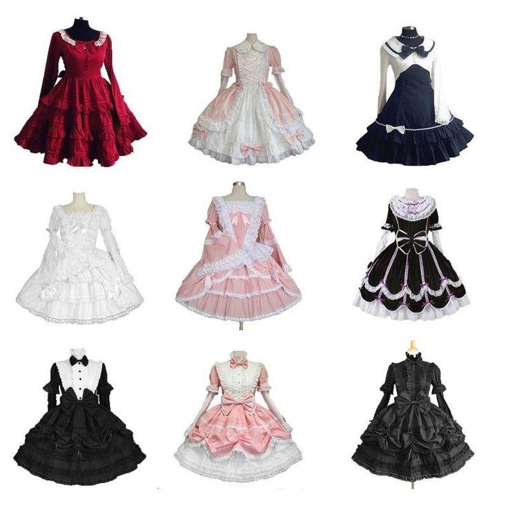 Victorian Gothic Lolita Cosplay Dress Long Tiered Layered Women Halloween Skirt #Unbranded #GothicLolitaDress