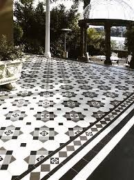 Image result for black and white tessellated tiles