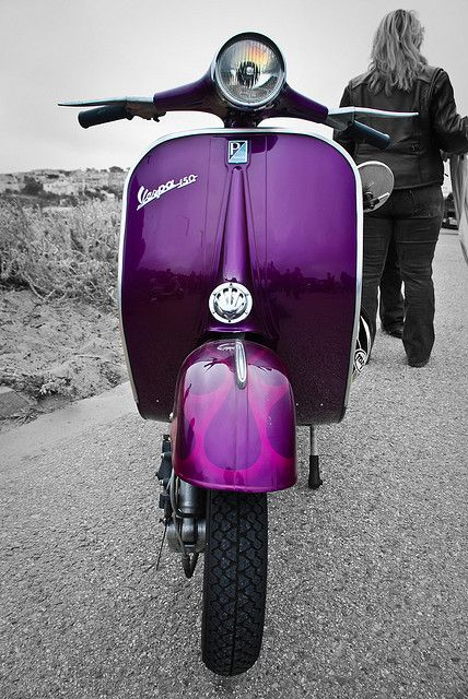 Purple Vespa. Purple passion | More purple lusciousness here: http://mylusciouslife.com/purple-passion/  --- Attract your dreams FASTER, CLICK ON THE PICTURE