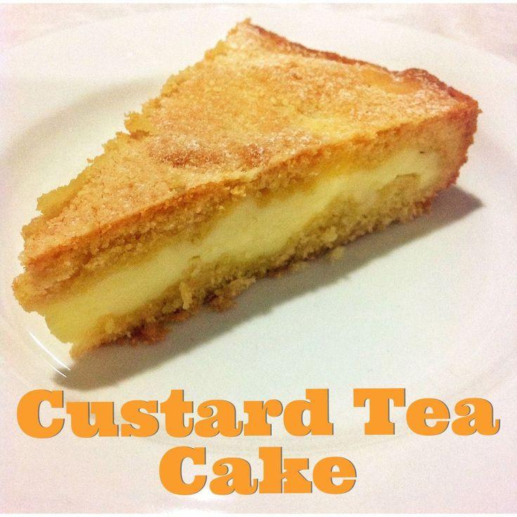 Custard Tea Cake looks so easy and all pantry ingredients simple