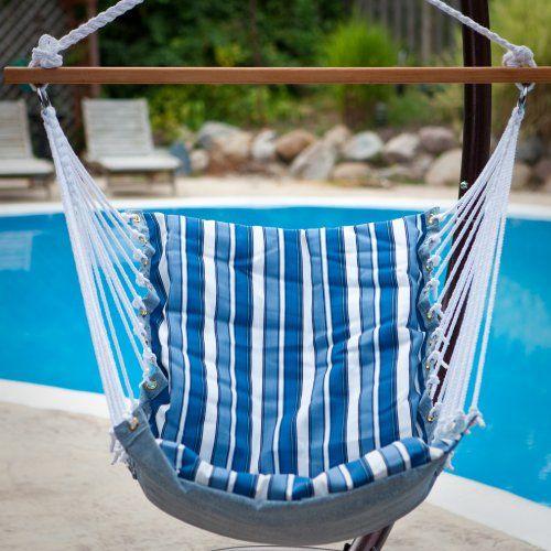 Tropical Palm Stripe Soft Comfort Hanging Hammock Chair - Hammock Chairs & Swings at Hayneedle