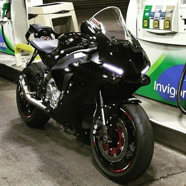 Matte Black Yamaha R1 Motorcycles Sport Bikes Super
