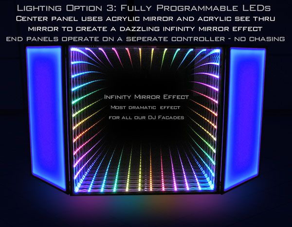 LED DJ Booth and LED DJ Facade