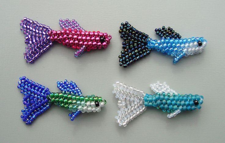 Free Beading Pattern: Tiny 3D Guppy | Bead-Patterns