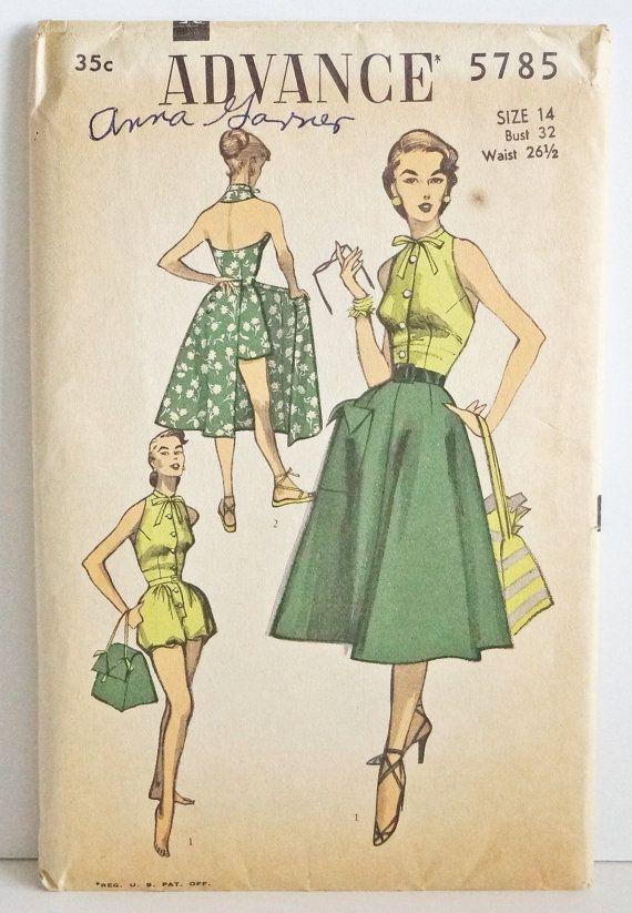 1951 Advance 5785 Playsuit