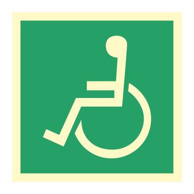 Nødutgang funksjonshemmede - Kjøp Nødskilt online