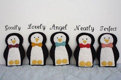 Free Felt Patterns and Tutorials: Free Felt Pattern > Penguin Finger Puppets