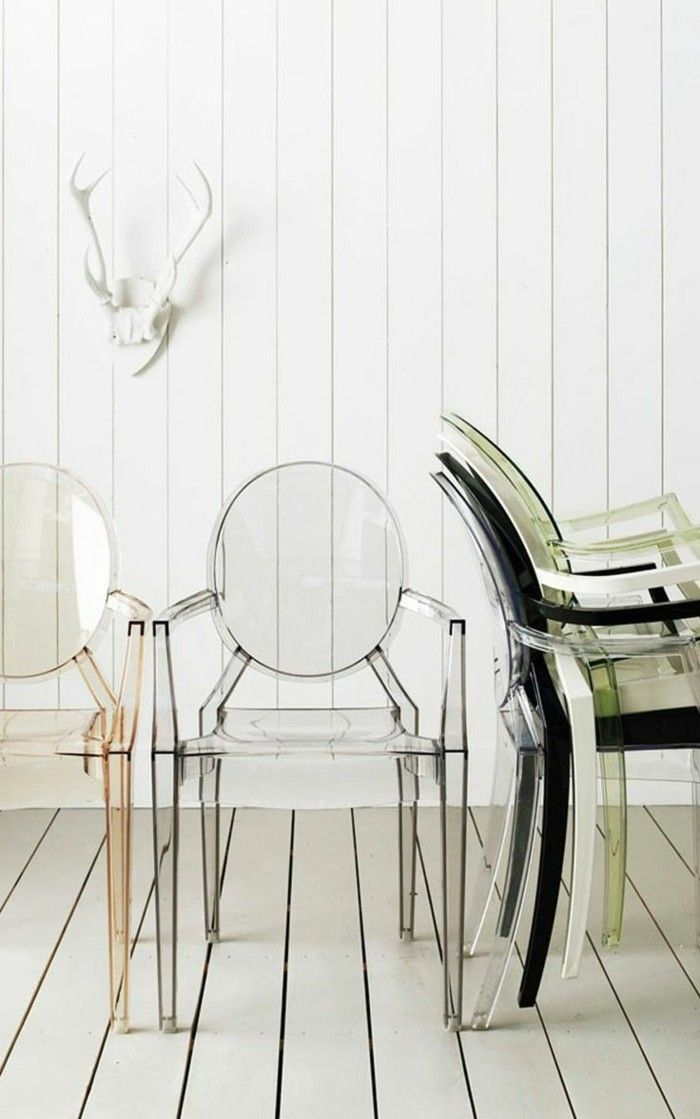17 meilleures id es propos de chaise transparente sur for Table a manger transparente