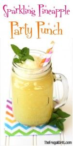 Pineapple Party Punch Recipe from TheFrugalGirls.com