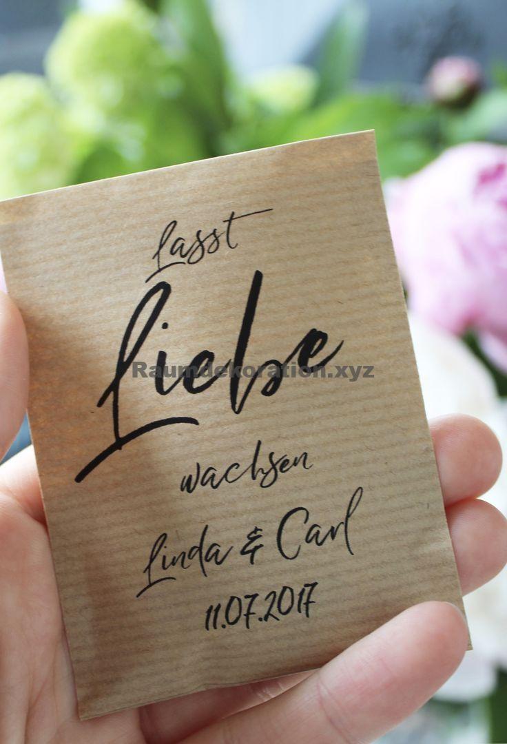 Tischdeko Hochzeit Gastgeschenk Hochzeit Blumensamen Deko