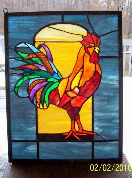 Obana Stained Glass Rooster – Hillbilly Handcrafts - Grace Obana ...
