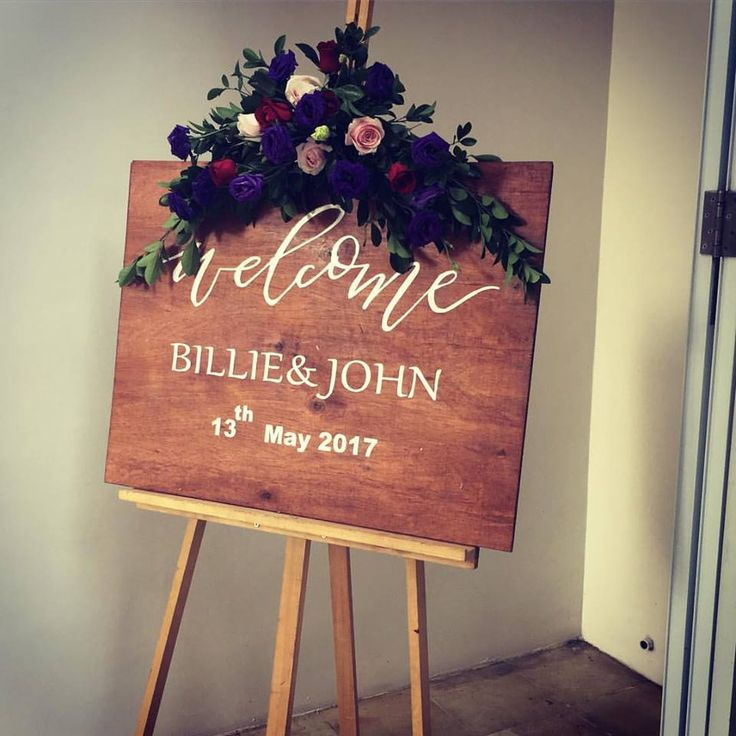 Love this Wedding Welcome Sign!