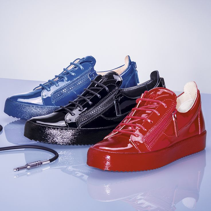 Make a sleek statement in these all-patent leather sneakers. The JAYCE. Giuseppe  Zanotti DesignLeather ...