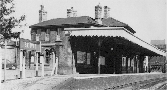 The old St Ives train station