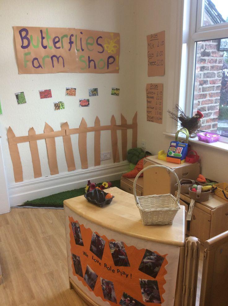 Butterflies Classroom Farm shop role play area