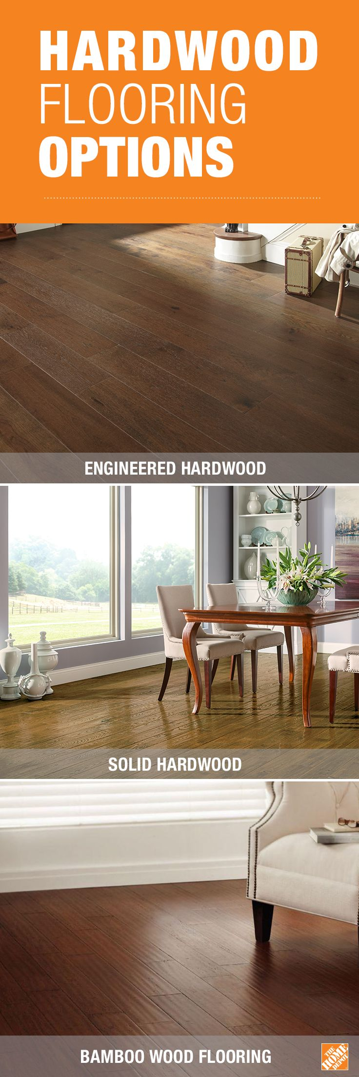 Find a wide selection of wood flooring at The Home Depot, including the latest in engineered hardwood, classic hardwood and on-trend bamboo choices. Click through to explore all our wood flooring options.