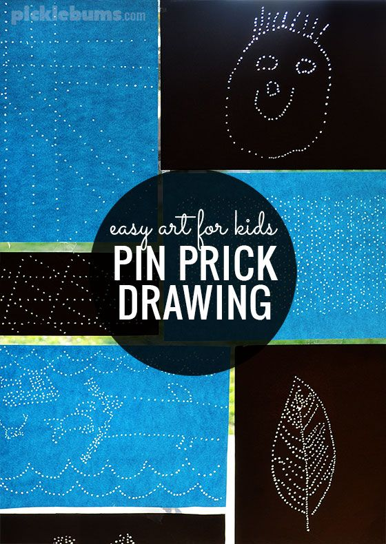 Pin prick drawings may great 'sun catchers' and are an easy, no-mess, art activity for kids