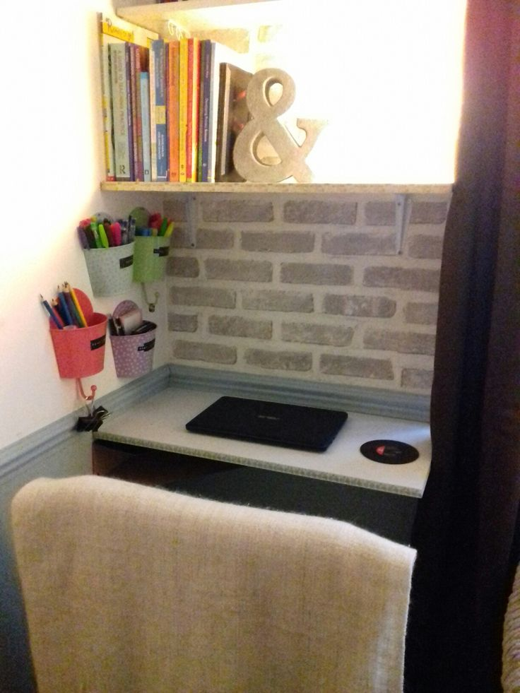 Small study area created in a small corner of my living room