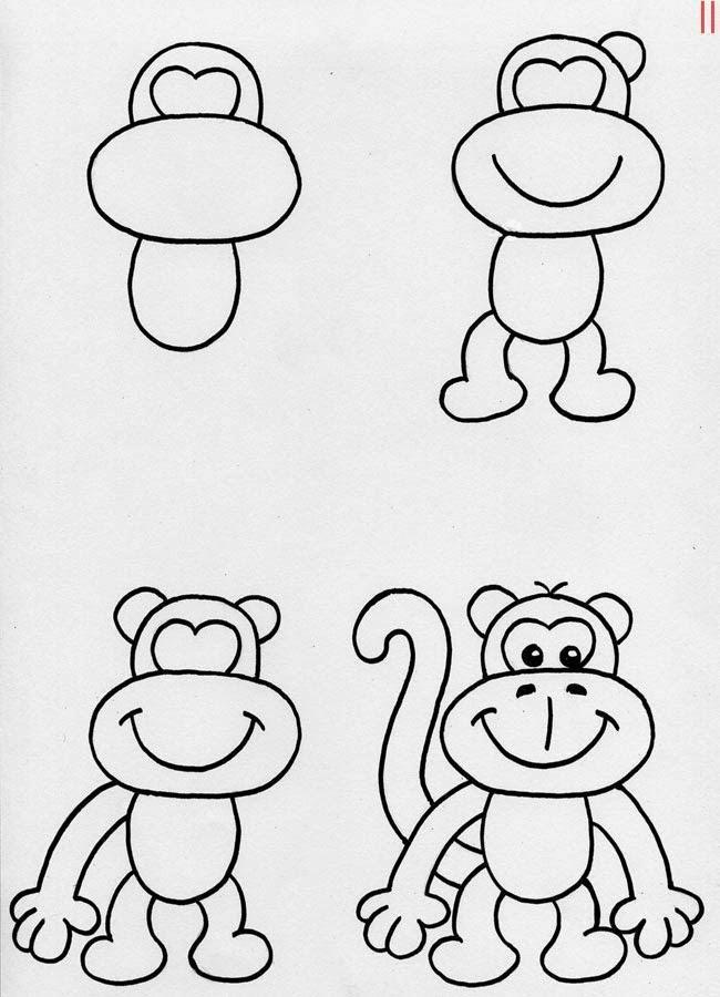 Kolay Hayvan çizimi 47 Adet örnek şablon Hayvan çizimleri