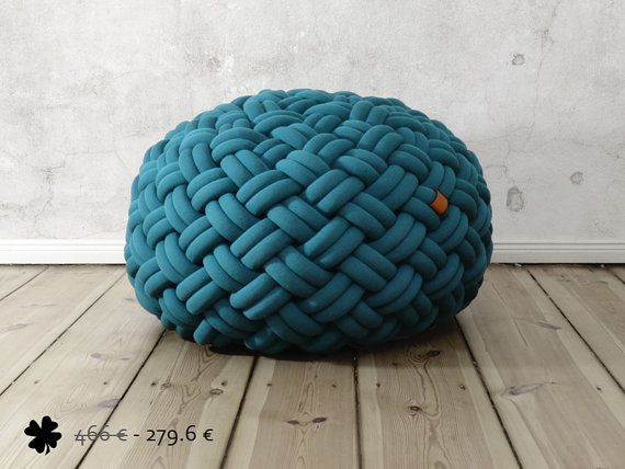 40% off - KNOTTY floor cushion 80x80x40 cm (petrol) $375?  Srsly?  I could totally do this!