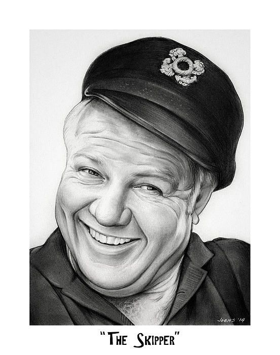 From fine art america · the skipper from gilligans island · pencil art drawingscelebrity