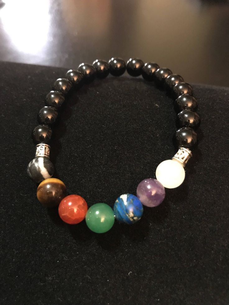 A personal favorite from my Etsy shop https://www.etsy.com/ca/listing/540179625/womens-seven-chakra-bracelet-with-onyx