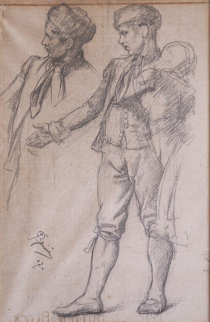 František Ženíšek: Mládenec v domažlickém kroji (Young man dressed in Domažlice folk costume), 1907