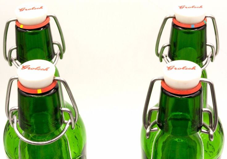Lot 4 vtg #glass grolsch beer #bottle home brew #brewing flip swing top ez cap pi,  View more on the LINK: http://www.zeppy.io/product/gb/2/182199198445/