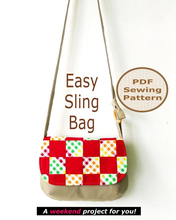 EASY SLING Bag Instant Download   PDF Sewing by projectsbyjane, $8.00
