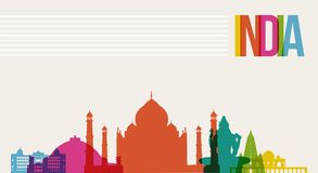 travel india destination landmarks skyline background royalty