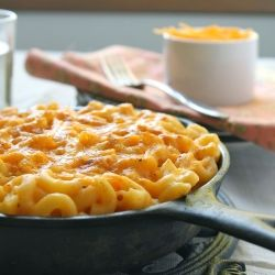THE BEST macaroni and cheese you will ever eat. A great one-pot dinner with no cream - just skim milk!