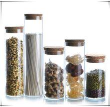 Botella de almacenamiento de vidrio frascos 1 unids contenedor de alimentos de cocina botellas frascos de Vidrio de almacenamiento de alimentos de almacenamiento frasco de almacenamiento de vidrio con tapa(China (Mainland))